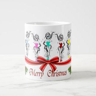 Las Vegas Christmas Showgirls Espresso Mug