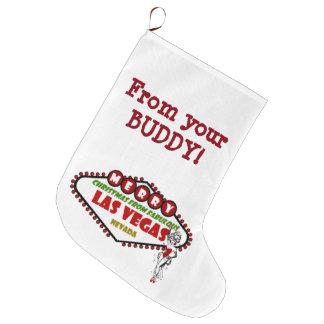 Las Vegas Christmas Stocking. from your BUDDY! Large Christmas Stocking