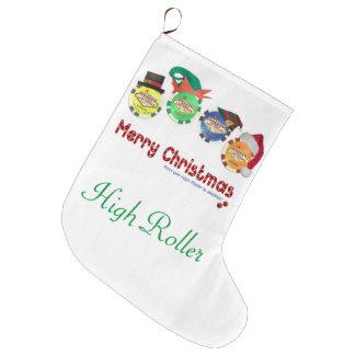 Las Vegas Christmas Stocking. High Roller Large Christmas Stocking