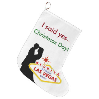 Las Vegas Christmas Stocking. I said Yes Large Christmas Stocking