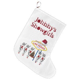 Las Vegas Christmas Stocking. Johnny's Showgirls Large Christmas Stocking