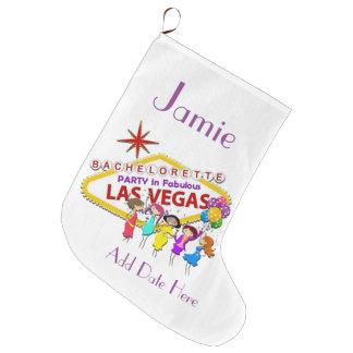Las Vegas Christmas Stocking. Large Christmas Stocking