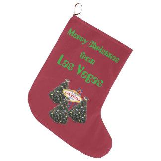 Las Vegas Christmas Stocking Large Christmas Stocking