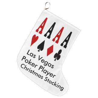 Las Vegas Christmas Stocking. Poker Player Large Christmas Stocking