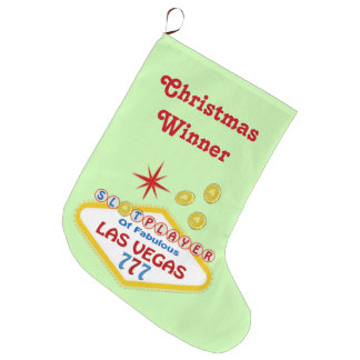 Las Vegas Christmas Stocking. Slot Player WINNER Large Christmas Stocking