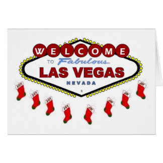 Las Vegas Christmas Stockings Card