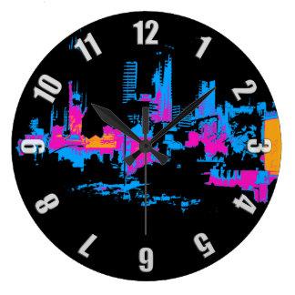Las Vegas Cityscape Large Clock