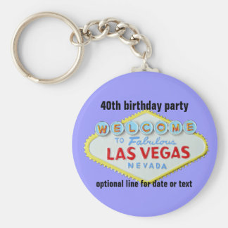 Las Vegas Custom Birthday Party 40th Key Ring