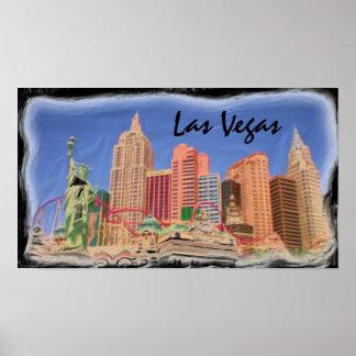 Las Vegas day scene poster