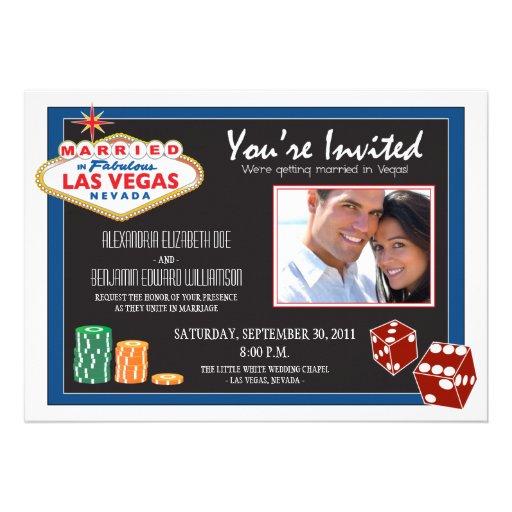 Las Vegas Destination Wedding Invitation (blue)
