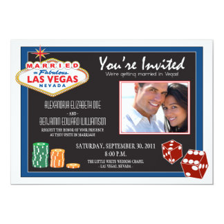 Las Vegas Destination Wedding Invitation (blue)