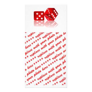 Las Vegas Dice Photo Greeting Card