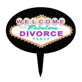 Las Vegas Divorce Party Cake Topper