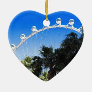 Las Vegas Ferris Wheel 2 Ceramic Ornament