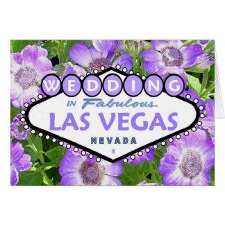 Las Vegas Floral WEDDING Card