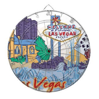 Las Vegas Fun In The Sun Dartboard