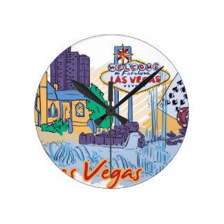 Las Vegas Fun In The Sun Round Clock