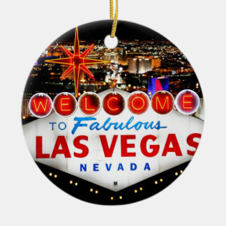 Las Vegas Gifts Ceramic Ornament