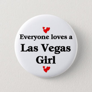 Las vegas Girl 6 Cm Round Badge