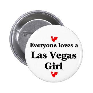 Las vegas Girl 6 Cm Round Badge