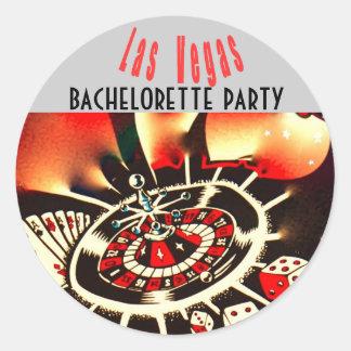 Las Vegas Girls Night Out Dice Casino Theme Round Sticker