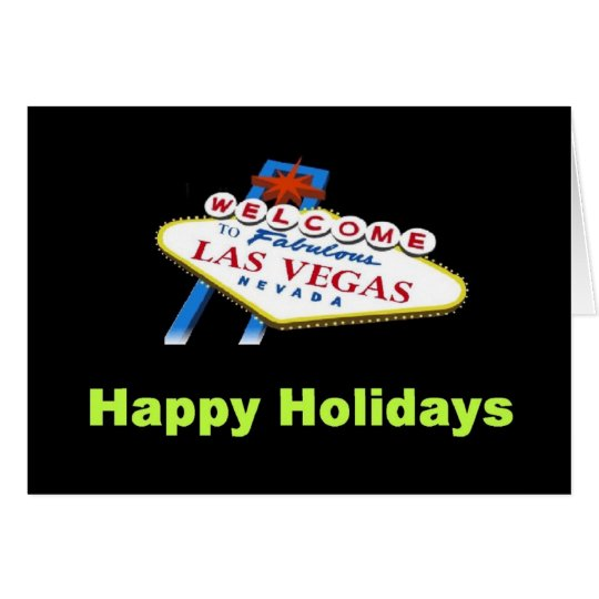 Las Vegas Happy Holiday Card
