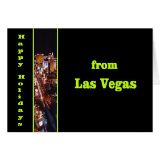 Las Vegas Happy Holidays View of Strip Card