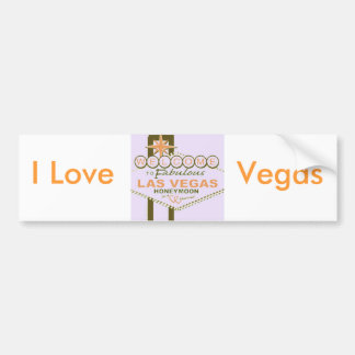 Las Vegas Honeymoon Bumper Sticker