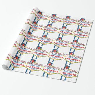 Las Vegas Honeymoon retro Wrapping Paper