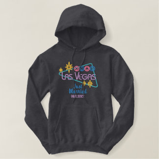 Las Vegas Just Married Embroidered Hoodie