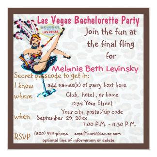 Las Vegas Leopard Fur Bachelorette Party Card