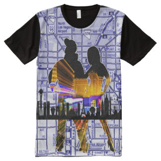 Las Vegas Loyalty City Map All-Over Print T-Shirt