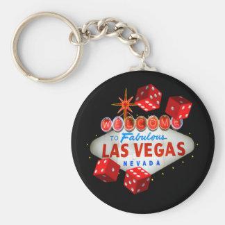 Las Vegas Lucky Dice Keychain