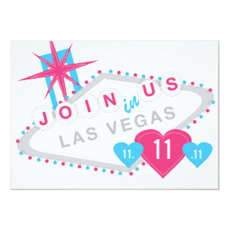 Las Vegas Lucky in Love Sate the Date 13 Cm X 18 Cm Invitation Card