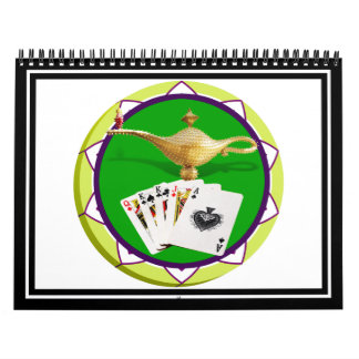 Las Vegas Magic Lamp Poker Chip Wall Calendar