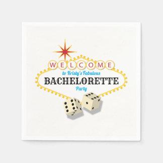 Las Vegas Marquee Bachelorette Party Disposable Serviettes