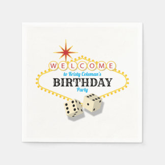 Las Vegas Marquee Birthday Party Disposable Napkin