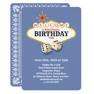 Las Vegas Marquee Birthday Party Hydrangea Card