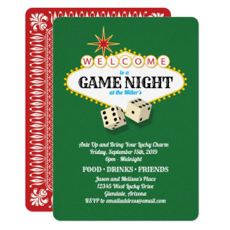 Las Vegas Marquee Game Night Green Card