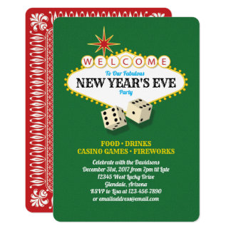Las Vegas Marquee New Years Eve Party Card