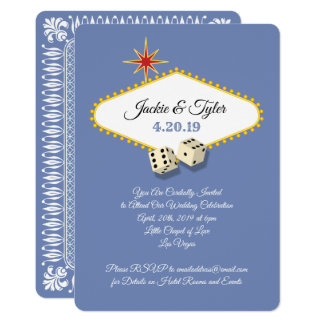 Las Vegas Marquee Wedding in Hydrangea Card