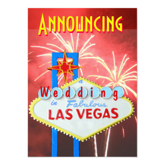 Las Vegas Marriage with Reception Invite