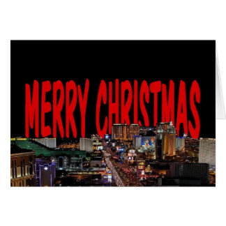 LAS VEGAS MERRY CHRISTMAS CARD Add your own text
