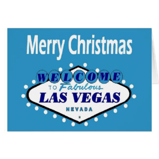 Las Vegas Merry Christmas Cards