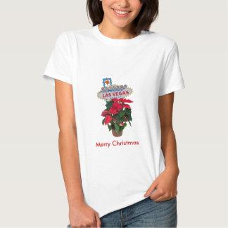 Las Vegas Merry Christmas Poinsettias Baby Doll T Tshirts
