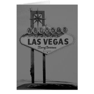 Las Vegas Merry Christmas Retro Card