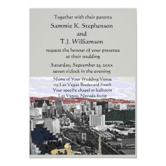 Las Vegas Modern Wedding Card