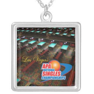 Las Vegas National Singles Championships Silver Plated Necklace