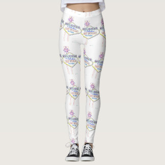 Las Vegas Neon Sign Leggings