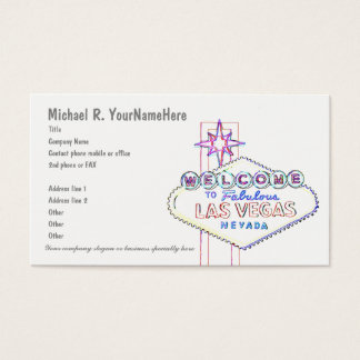 Las Vegas Neon Welcome Sign Business Card